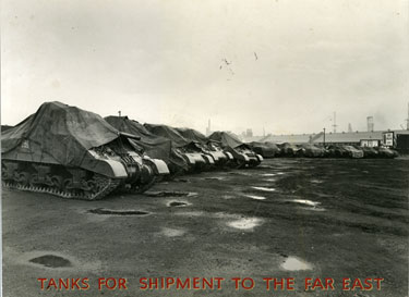 Tanks for shipment to the Far East
