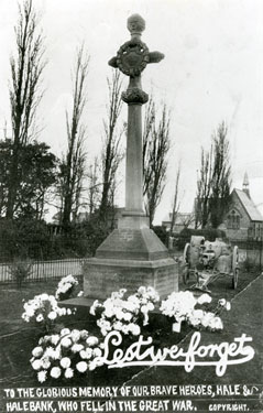 War Memorial, Hale and Hale Bank