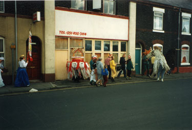 Widnes Library, procession to celebrate the centenary of the library.