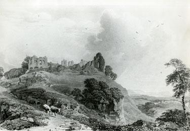 Drawing of Halton Castle