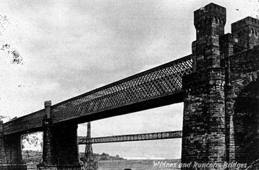 Widnes and Runcorn bridges