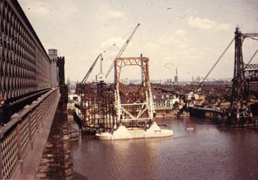 Construction of Widnes Runcorn road bridge