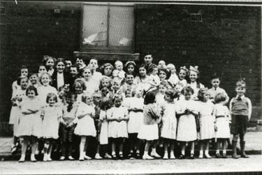 Ellesmere Street Sunday School before Whit Walk