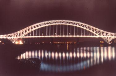 Silver Jubilee Bridge by night