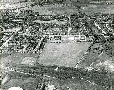 Aerial view of Appleton and Peelhouse Lane