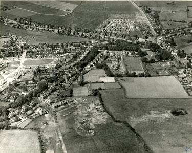 Aerial view of Birchfield Road, Upton Lane