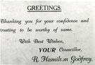 Councillor R Hamilton Godfrey