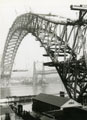 Construction of Runcorn Widnes road bridge