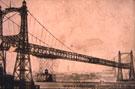 Transporter Bridge, first car crossing